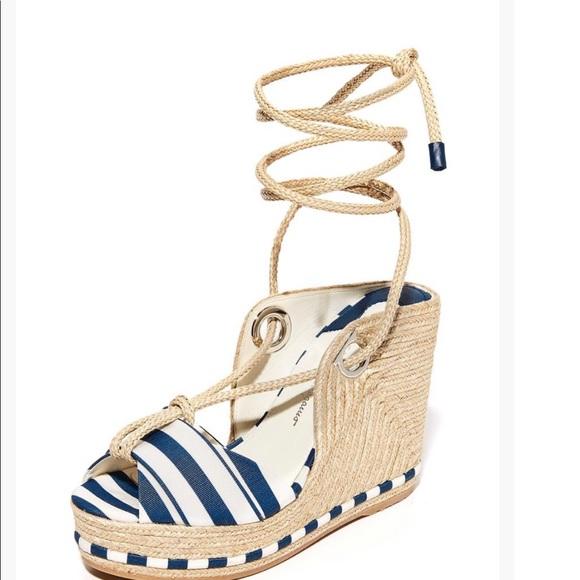 5218bbf4826 AUTH Ferragamo EVITA Wedge Espadrilles-Sandals. NWT. Salvatore Ferragamo